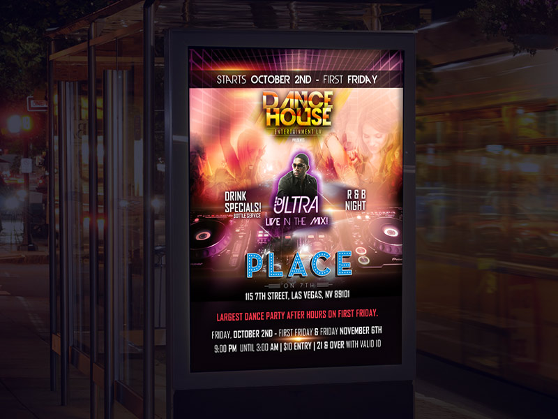 Dance House EntertainmentLV Club Poster